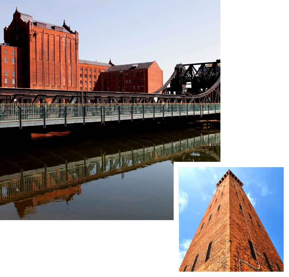 Grimsby dock tower and corporation bridge